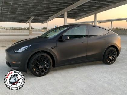Tesla Model Y 3M Deep Matte Black Car Wrap