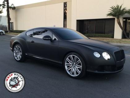 Bentley Wrapped in 3M Deep Matte Black