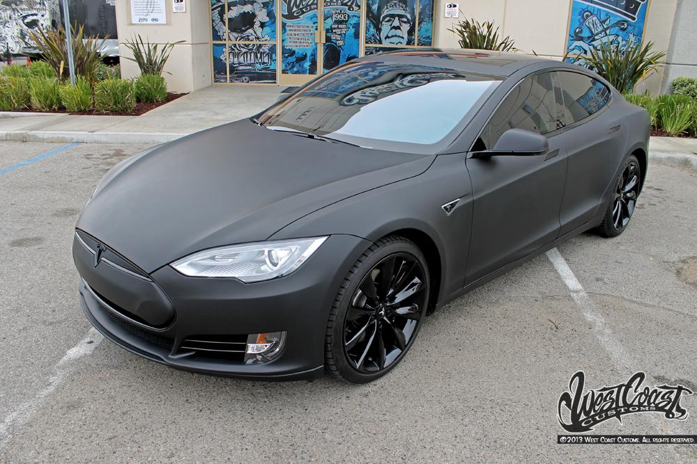 Tesla Model S Matte Black Wrap Wrapfolio