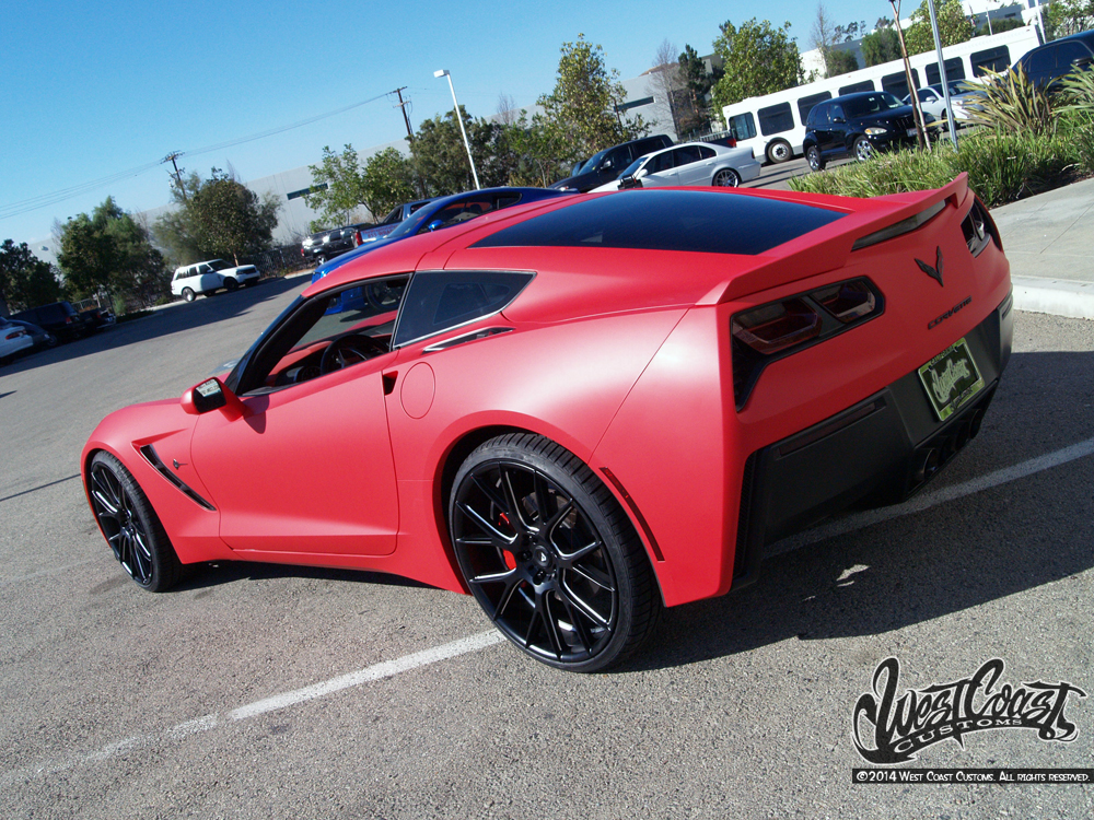 Matte Red Corvette Wrapfolio