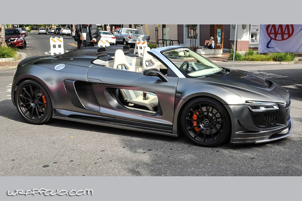 Frozen Black Chrome Audi R8 Wrap Wrapfolio