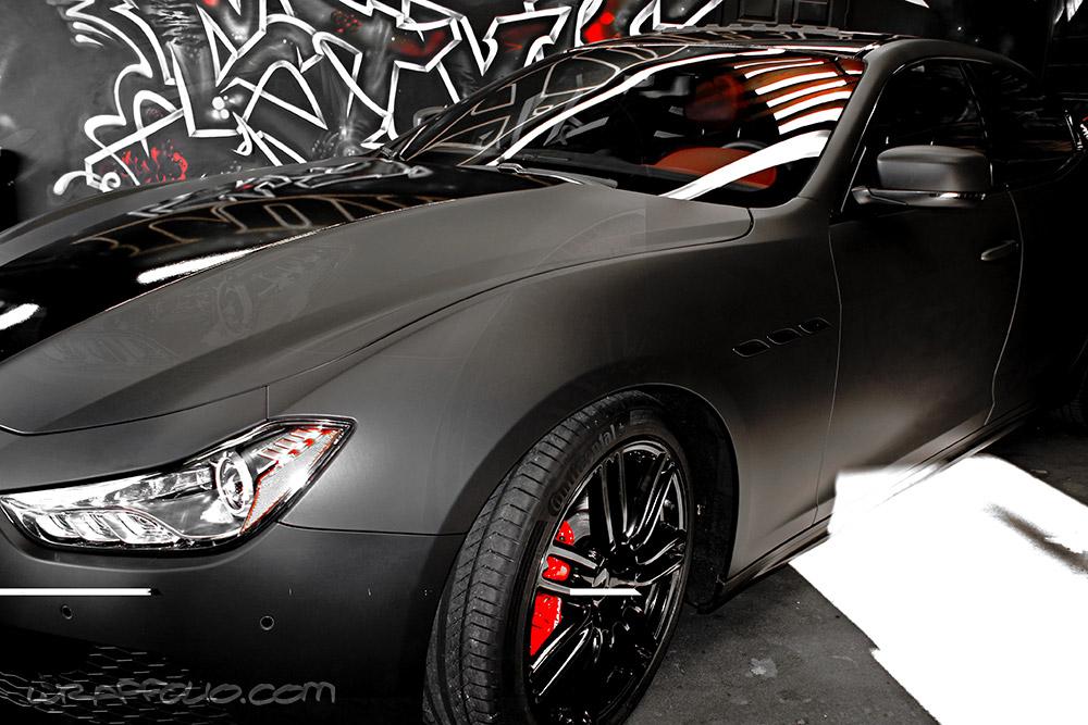Matte Black Maserati Ghibli Wrap Wrapfolio