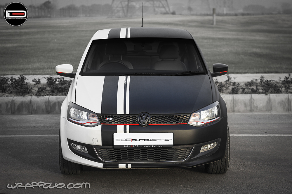 08 december 2014 matte hatchback partial polo racing stripes volkswagen vw