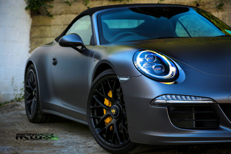 Satin Dark Grey Porsche 911 Gts Wrapfolio