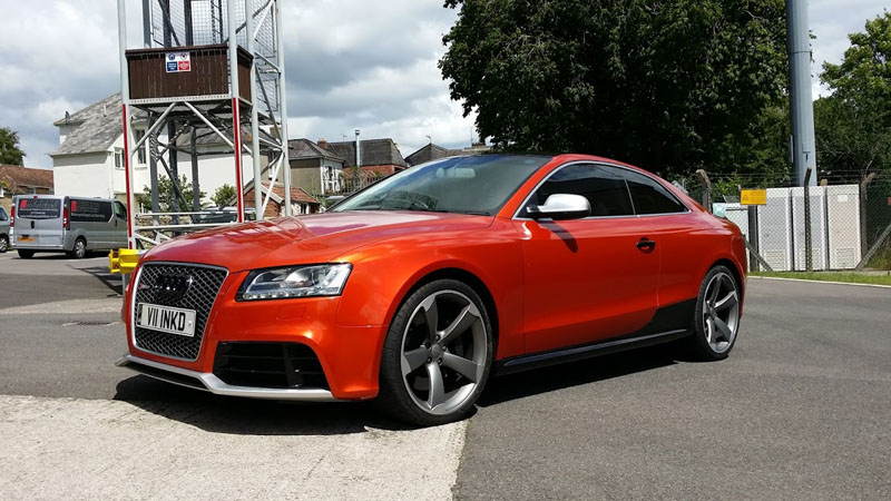 Fiery Orange Audi Rs5 Wrapfolio