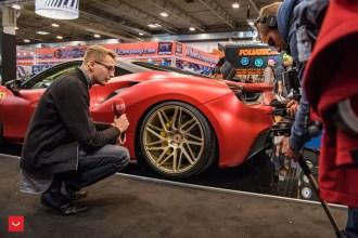 APA Satin Candy Red Ferrari 488 GTB Wrap