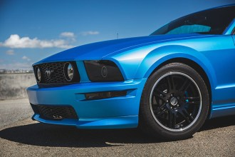 Matte Metallic Blue Ford Mustang Wrap