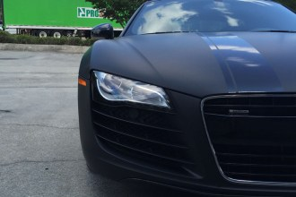 Matte Deep Black Audi R8 Wrap