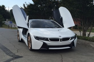 BMW i8 Gloss White Wrap