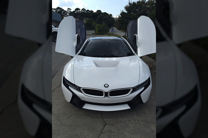 Gloss White Bmw I8 Wrapfolio