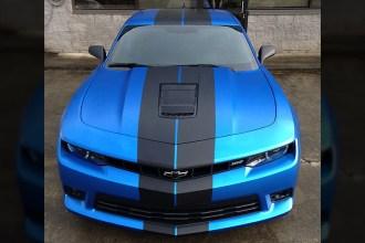 Satin Perfect Blue Camaro Wrap