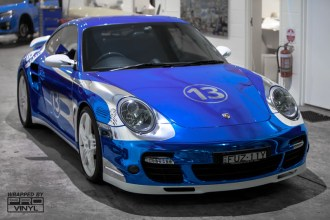 Blue Chrome Porsche