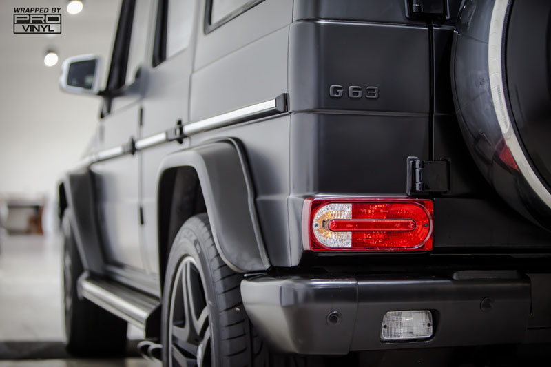 G65 AMG In Satin black vinyl wrap