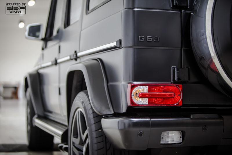 G65 AMG In Satin black vinyl wrap
