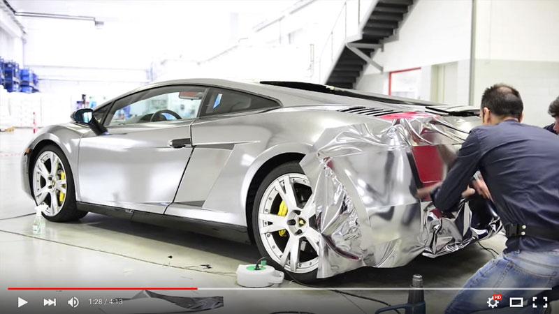 Video Car Wrapping Galaxy Chrome Lamborghini Wrapfolio