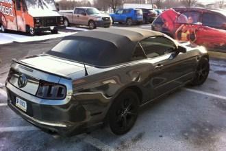 Black Chrome Mustang