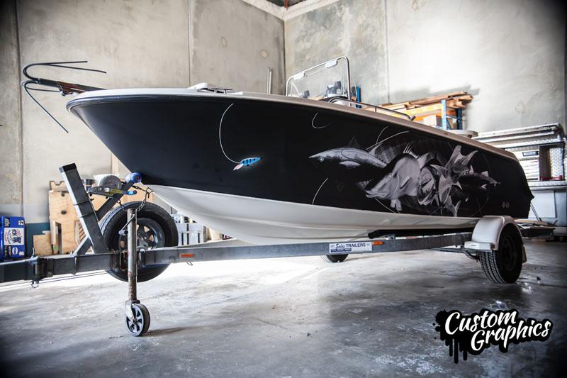 Matte Black Boat Wrap