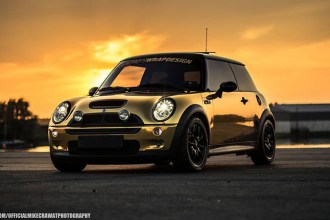 Gold Chrome Mini Cooper Wrap