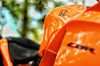 Gloss Orange Honda CBR 15 Motorcycle Wrap