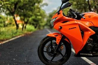 Gloss Orange Honda CBR 15 Motorcycle Wrap