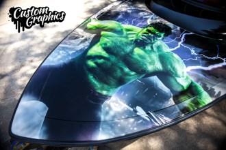 The Hulk Boat Wrap