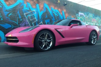 Hot Pink Corvette Wrap