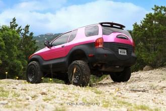 Pink Isuzu Vehicross Wrap