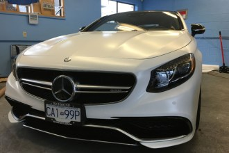 Satin White S63 Wrap