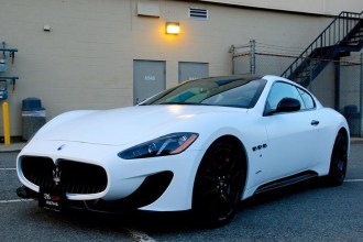 Satin White Maserati Wrap