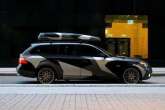 Camo Wrap BMW Wagon