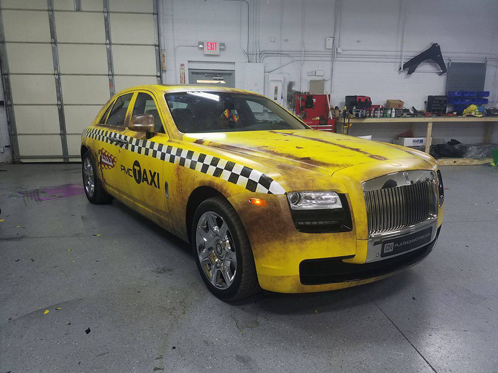 Rolls Royce Crazy Taxi Rust Wrap Wrapfolio
