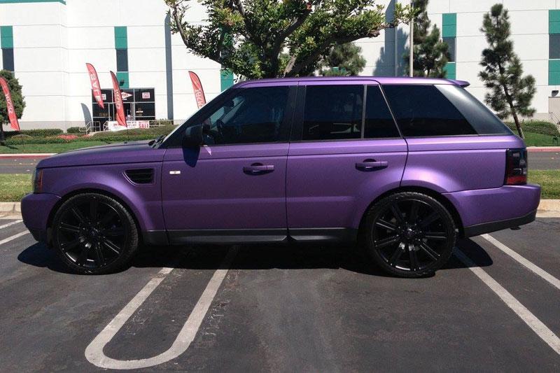 Matte Purple Metallic Range Rover Wrap Wrapfolio