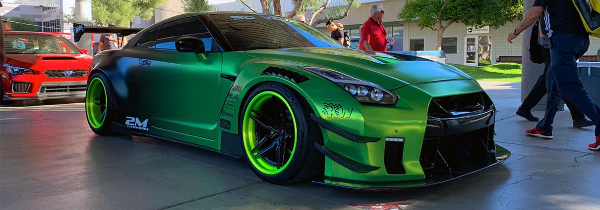 Satin Green Chrome GTR by SD Wrap