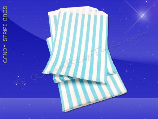 Candy Stripe Bags 5 x 7 – Aqua Stripes 2