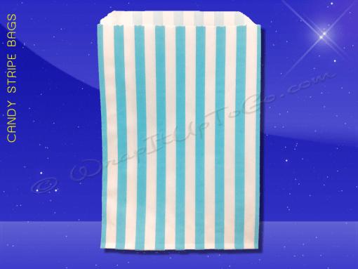Candy Stripe Bags 7 x 9 – Aqua Stripes 1