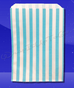 Candy Stripe Bags 7 x 9 – Aqua Stripes 1