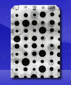 Candy Stripe Bags 7 x 9 – Black Dots 1