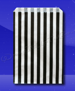 Candy Stripe Bags 7 x 9 – Black Stripes 1