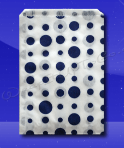 Candy Stripe Bags 7 x 9 – Blue Dots 1
