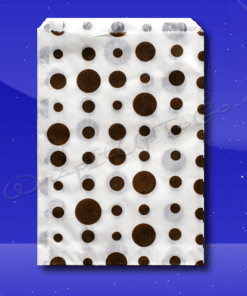 Candy Stripe Bags 10 x 14 – Brown Dots 1