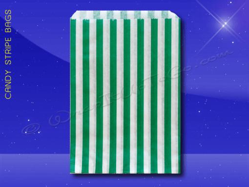 Candy Stripe Bags 10 x 14 – Green Stripes 1