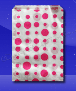 Candy Stripe Bags 7 x 9 – Pink Dots 1
