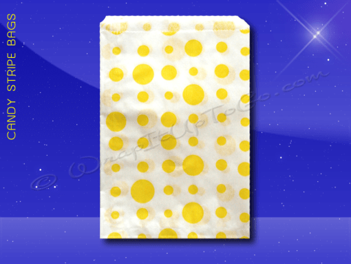 Candy Stripe Bags 10 x 14 – Yellow Dots 1