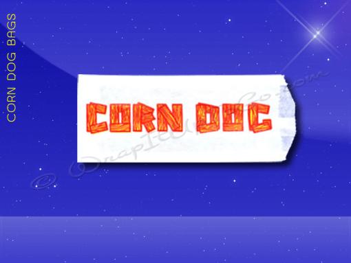 Corn Dog Bags – 3 x 3/4 x 7 – Printed Corn Dog 1
