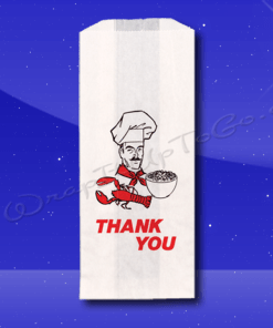 Duplex Doggie Bags – 5 x 3 x 12 – Printed Thank You Chef 1