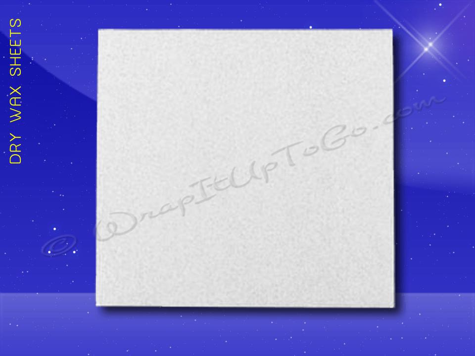 Dry Wax Sheets – 12 x 12 – Plain 1