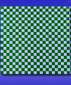 Dry Wax Sheets – 12 x 12 – Green Checkerboard 1