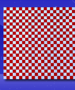 Dry Wax Sheets – 12 x 12 – Red Checkerboard 1