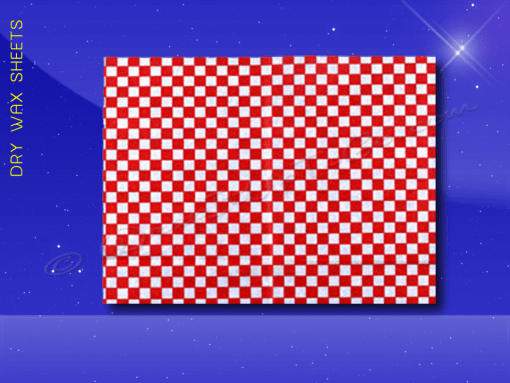 Dry Wax Sheets – 12 x 16 – Red Checkerboard 1