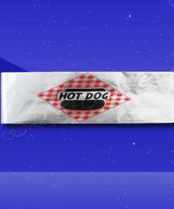 Foil Hot Dog Bags – 3-1/2 x 1-1/2 x 12 – Printed Hot Dog 1